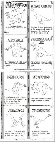 Learn about dinosaurs and practice reading skills! Learn about dinosaurs and practice reading skills! Dinosaur Worksheets, Dinosaur Activities, Preschool Activities, Dinosaur Facts For Kids, Vocabulary Activities, School Worksheets, Reading Comprehension Skills, Reading Skills, Tot School