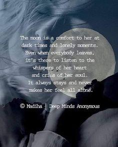 Deep Minds Anonymous @deepmindsanonymous #deepmindsanonymous #moon #poetry #wordsforsoul #p... | Yooying