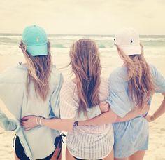 beach shirts and polo hats #summer #polo #beachprep #bestfriends
