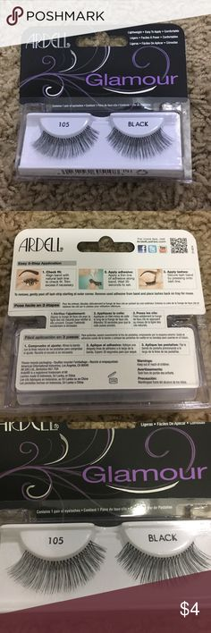 Ardell glamour fake eyelashes Ardell fake eyelashes - black - lightweight - never been worn - purchased wrong item ardell Makeup False Eyelashes
