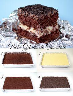 Bolo Gelado De Chocolate.