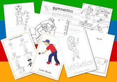 Commonwealth Games sports activities, free worksheet and printables