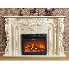 decorative fireplace set European style custom made carved natural stone mantel electric fireplace insert LED optical flame|Fireplaces| - AliExpress Oak Mantel, Wooden Mantel, Stone Mantel, Electric Fireplace With Mantel, Stove Fireplace, European Style, European Fashion, Fireplace Inserts, Natural Stones