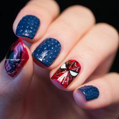 pra vcs que são fans de homem aranha !!! taí uma otima dica para se inspirarem e fazer em suas unhas