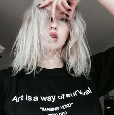 Art is a way of survival T-Shirt Funny Letter Printed t shirts Casual Cotton Tees Hight Quality Crewneck Hipster Tops Grunge Girl, Grunge Style, 90s Style, 90s Grunge, Soft Grunge, Girl Style, Goth Outfit, Hipster Tops, Tumblr Girls