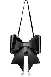 MM6 Maison Martin MargielaBow-embellished PU shoulder bag