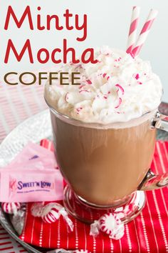 A sweet combination of mint and chocolate makes this reduced-calorie coffee the perfect drink this holiday season. Whether you make it for yourself or your guests, anyone who sips on this refreshing peppermint-flavored brew will get to enjoy the sweetness they love without the extra calories.  (70 calories per serving)