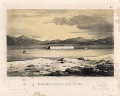 """""""Establecimiento del Salado"""". Viaggio nel Deserto di Atacama (Cile) del 1853-54. #viaggi #cile #atacama #esplorazioni #illustrazioni"""