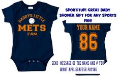 daddys mommy mets baby jersey customized personalized infant shirt jersey new york gear onesie bodysuit clothes