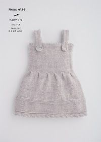 Ravelry: Dress pattern by Cheval Blanc Official Kids Knitting Patterns, Knitting For Kids, Crochet For Kids, Baby Patterns, Free Knitting, Dress Patterns, Knit Baby Dress, Knitted Baby Clothes, Crochet Pattern