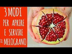 3 modi facili per aprire e servire il MELOGRANO – 3 Easy Ways to Open Pomegranate