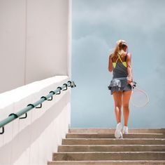 Beautiful tennis outfit from Lucky in Love. This is the Not War double pleat skort and bralette cami.