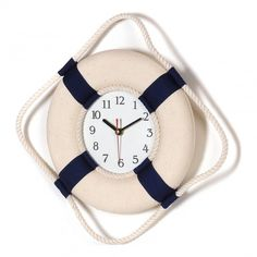 Cream/Blue Clock Lifebuoy