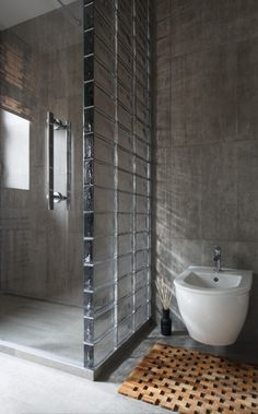 Glass Bricks Bathroom