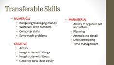 Resume help transferable skills
