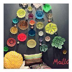 colorful crochet bowls