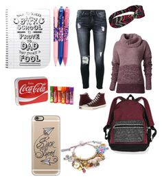 school by kirimaus on Polyvore featuring interior, interiors, interior design, Zuhause, home decor, interior decorating, Vera Bradley, Royal Robbins, 7 For All Mankind and Converse