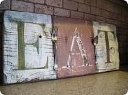 crafts with barn wood - Google Search