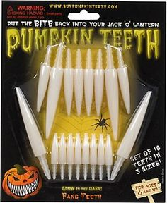 Scary Pumpkin Carving Teeth