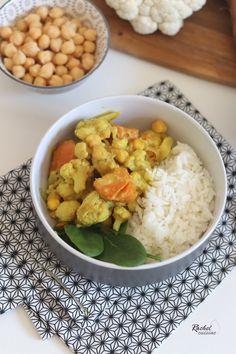 Curry chou fleur, patate douce, pois chiches