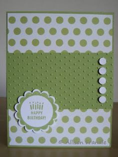Embellished Simple card Paper: 4 More AVS Cards - The Last of Them Handmade Birthday Cards, Happy Birthday Cards, Greeting Cards Handmade, Birthday Wishes, Card Making Inspiration, Making Ideas, Bday Cards, Embossed Cards, Stamping Up Cards