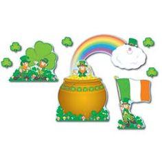 Bulletin Board Set St. Patricks Day $8.57