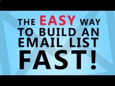 How To Build an Email List Fast | Email Marketing Training  Tools - YouTube