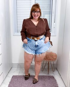 a Cheap Plus Size Clothing, Look Plus Size, Fat Women, Big And Beautiful, Look Fashion, Casual Looks, Plus Size Outfits, Plus Size Fashion, Ideias Fashion