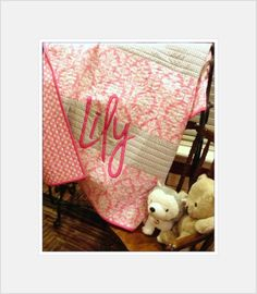 Personalized Modern Baby Quilt