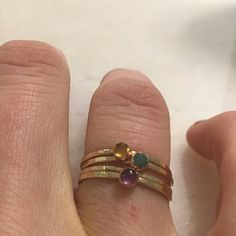 Your place to buy and sell all things handmade Birthstone Stacking Rings, Multiple Rings, Mother Rings, Pink Tourmaline, Birthstones, Natural Gemstones, Gemstone Rings, Drop, Jewelry
