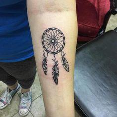 White Ink Dreamcatcher Tattoo