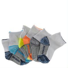 Skechers Boys' S105798 6-Pack Non Terry Ankle Socks | shoemall | free shipping!