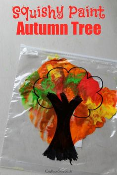 This mess free autumn tree craft is perfect for teaching about colour mixing and is a fun sensory autumn craft too! Get our tips for this fun activity.