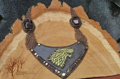 """https://flic.kr/p/DMWzmX   But Starks remain_5   This necklace was made for the contest with """"Game of Thrones"""" theme. I got inspired by the Robb Stark's armor)"""