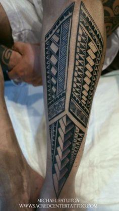 tattoo #Polynesian #tribal #shin tattoo #leg tattoo #sacred center ...