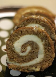 Classic Pumpkin Roll with Cream Cheese Filling.