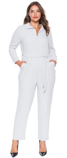 Plus Size Studio Zip Front Jumpsuit * Read more reviews of the product by visiting the link on the image.