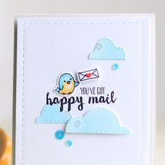 Wplus9 HAPPY MAIL SET Clear Stamp And Die Combo SETWPLUS236 at Simon Says STAMP!