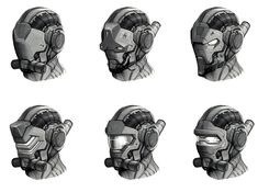 Helmet Concepts from Deep Black