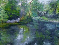 """Stan Hywet Afternoon 14 x 18  oil on linen  $400.00"" - Original Fine Art for Sale - © Vincenza Harrity"
