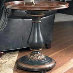 Hooker Furniture - Round Accent Table - Round shape. Pedestal base. Made from wood. 28 in. Dia. x 28 in. H