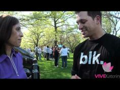 VIVE Katerin interviews Albie Manzo about BLK vitamin water.
