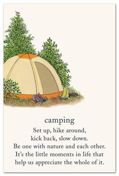 Inside message: There's a reason for the term Happy Camper! Wishing You the Happiest of Birthdays Nature Quotes, Me Quotes, Camping Set Up, Camping Life, Symbols And Meanings, Spiritual Symbols, One With Nature, Meaning Of Life, Happy Campers