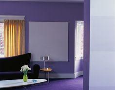 Dale alegría y frescura a tus paredes con un morado puro. Pintura Behr - Exotic Purple660B-7