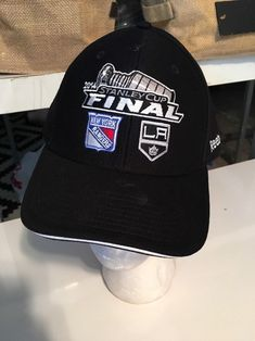 a913a7a9 Mens Hat 2014 Stanley Cup Final, NY Rangers/LA Kings, Adjustable, Black