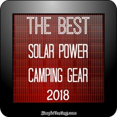 When it comes to camping, having portable power can be very helpful. With new technologies we can turn the suns energy into electricity. Tent camping is evolving and I am here to show you the best solar power camping gear. Solar Camping, Camping List, Diy Camping, Camping Gear, Camping Hacks, Camping Stuff, Camping Storage, Camping Crafts, Outdoor Camping