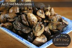 Incredibly delicious and morish chunks of flavourful, juicy mushrooms.  So easy to make, too -- and easy to make ahead and reheat.  For paddle-type air