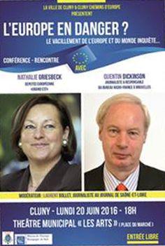 Conférence sur l'Europe le 20 juin 2016 à Cluny : http://clun.yt/1U711Qm
