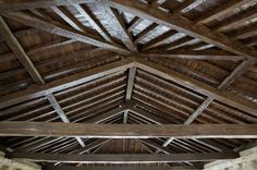 Our reclaimed hewn timber looks great as ceiling beams or architectural accents such as mantles.