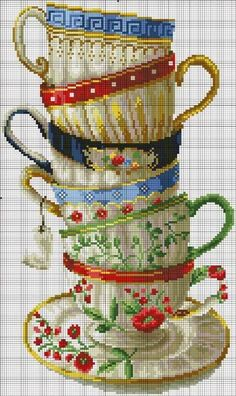 Hobbies needlework - embroidery - crochet - knit